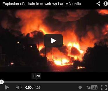 CATASTROPHE AU LAC MÉGANTIC : UNE TRAGEDIE HUMAINE ET ENVIRRONEMENTALE dans COMMUNIQUÉS ... ACTUALITÉS video1
